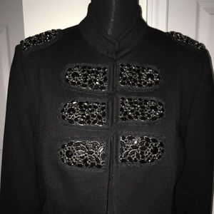 Military style jacket with beading.